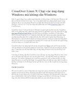 Tài liệu CrossOver Linux 9: Chạy các ứng dụng Windows mà không cần Windows pdf