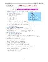 Chuyên đề 12   hình học không gian