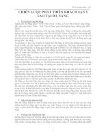 Tài liệu Chiến lược phát triển khách sạn 5 sao tại Đà Nẵng pdf