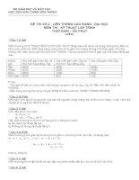 Tài liệu Đề thi liên thông cao đẳng - đại học môn kỹ thuật lập trình (Đề số 2) pdf