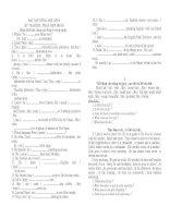 Tài liệu Bài tập tiếng Anh lớp 6 doc