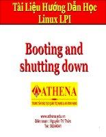 Tài liệu Booting and shutting down ppt
