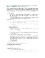 Tài liệu Giảm tiền thuê đất, mặt nước (tiền thuê đất) đối với các TH thuê đất để SD vào mục đích SXNN, lâm nghiệp, nuôi trồng thuỷ sản... doc