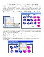 Tài liệu Tạo đồng hồ đếm giây trong Microsoft Power Point docx