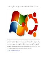 Tài liệu Hướng dẫn cài đặt các Font Windows trên Ubuntu Đây là 1 trong những bước cơ docx