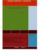 Các hướng tư DUY để giải toán hình học tọa độ KHông gian OXYZ