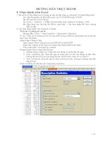 Tài liệu Hướng dẫn thực hành Excel pdf