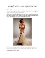Tài liệu Bí quyết để trở thành một cô dâu xinh ppt