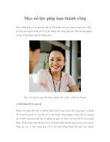 Tài liệu Mẹo nỗ lực giúp bạn thành công pdf