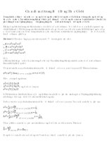 Tài liệu Kỹ thuật chọn điểm rơi trong Bất đẳng thức Cô-si pdf