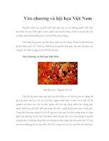 Tài liệu Văn chương và hội họa Việt Nam docx