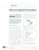 Tài liệu Ethernet Signal Preservation In Factory-Terminated Patch Cords for Local Area Networks pptx
