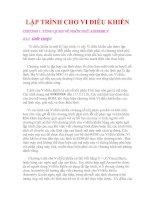 Tài liệu LẬP TRÌNH CHO VI ĐIỀU KHIỂN CHƯƠNG 1 pptx