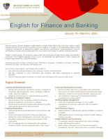 Tài liệu English for finance and banking doc