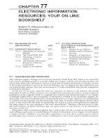 Tài liệu ELECTRONIC INFORMATION RESOURCES: YOUR ON-LINE BOOKSHELF doc