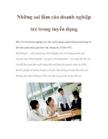 Tài liệu Những sai lầm của doanh nghiệp trẻ trong tuyển dụng ppt