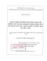 Luận văn HOÀN THIỆN PHƯƠNG PHÁP XẾP HẠNG TÍN NHIỆM KHÁCH HÀNG DOANH NGHIỆP TẠI NGÂN HÀNG ĐẦU TƯ VÀ PHÁT TRIỂN VIỆT NAM