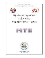 Tài liệu Kỹ thuật lập trình TIỆN CNC Với MTS CAD - CAM , CHƯƠNG 3 docx