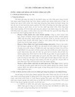 Tài liệu Tài liệu thẩm định dự án đầu tư - Phần 1 ppt