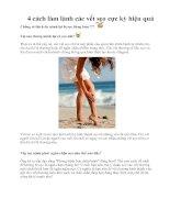 Tài liệu 4 cách làm lành các vết sẹo cực kỳ hiệu quả pdf