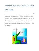 Tài liệu Phân tích thị trường - một nghệ thuật kinh doanh pdf