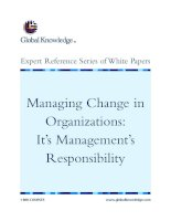 Tài liệu Managing Change in Organizations: It's Management's Responsibility ppt