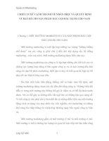 Tài liệu Chương 1: MÔI TRƯỜNG MARKETING CỦA SẢN PHẨM DẦU GỘI ĐẦU DÀNH CHO NAM ppt