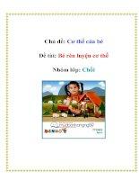 Tài liệu Chủ đề: Cơ thể của bé - Đề tài: Bé rèn luyện cơ thể - Nhóm lớp: Chồi pdf