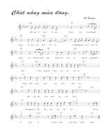 Tài liệu Bài hát chút nắng mùa đông - Lê Quang (lời bài hát có nốt) pptx
