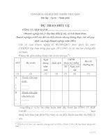 Tài liệu Dự thảo điều lệ pdf