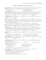 Tài liệu ALCOL-PHENOL(BÀI LUYỆN TẬP SỐ 2) ppt