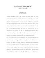 Tài liệu LUYỆN ĐỌC TIẾNG ANH QUA TÁC PHẨM VĂN HỌC-Pride and Prejudice -Jane Austen -Chapter 9 pdf
