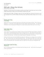 Tài liệu Sức khỏe răng miệng cho trẻ pdf