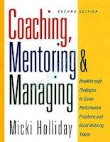 Tài liệu Coaching, Mentoring and Managing docx