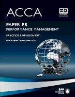 Tài liệu ACCA mới nhất từ BPP môn F5