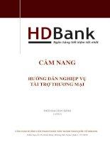 CẨM NANG  HƯỚNG DẪN NGHIỆP VỤ  TÀI TRỢ THƯƠNG MẠI HDBank