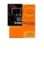 Tài liệu The Online English Grammar by Anthony Hughes pptx