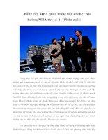 Tài liệu Bằng cấp MBA quan trọng hay không? Xu hướng MBA thế kỷ 21 (Phần cuối) pdf