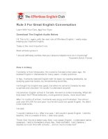 Rule 3 for great english conversation