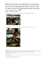 Tài liệu Cách móc len và một số dụng cụ làm đồ handmade ppt