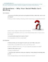 20 questions  why your social media isnt working