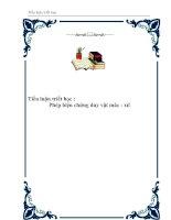 Tài liệu Tiểu luận triết học - Phép biện chứng duy vật mác - xít ppt
