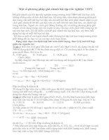 Tài liệu Phương pháp giải nhanh bài tập Hóa vô cơ doc