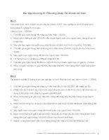 Tài liệu Bài tập chương III: Phương pháp Tài khoản kế toán pptx