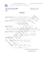 Tài liệu Đề và đáp án thi thử đại học môn Toán 2010_Đề số 3 doc