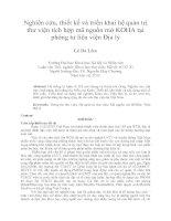 Nghiên cứu, thiết kế và triển khai hệ quản trị thư viện tích hợp mã nguồn mở KOHA tại phòng tư liệu viện địa lý