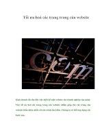 Tài liệu Tối ưu hoá các trang trong của website pdf