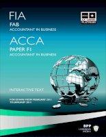Tài liệu ACCA mới nhất từ BPP môn F1