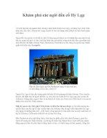 Tài liệu Khám phá các ngôi đền cổ Hy Lạp ppt