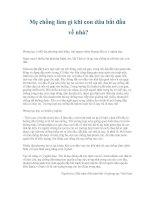 Tài liệu Mẹ chồng làm gì khi con dâu bắt đầu về nhà? pdf